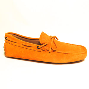 Tod's Suede Tie Moccasins - Orange