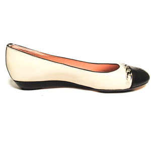 Taryn Rose Paola Cap Toe Leather Flat