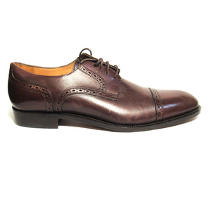 Saks Fifth Avenue Mens Leather Cap Toe Oxfords