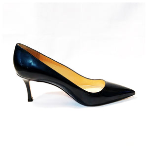 Manolo Blahnik Women's Blue Patent Bb Pumps
