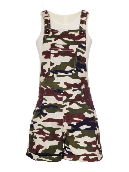 Naughty Ninos Camouflage Dungaree with T-Shirt