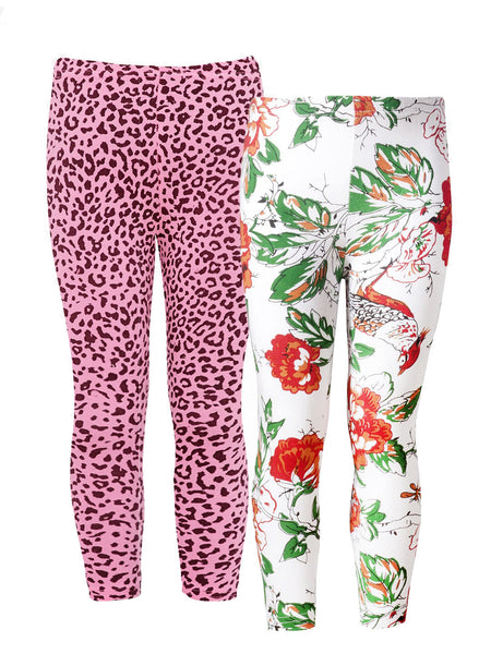 Naughty Ninos Girls Pack Of 2 Multi coloured Printed Leggings