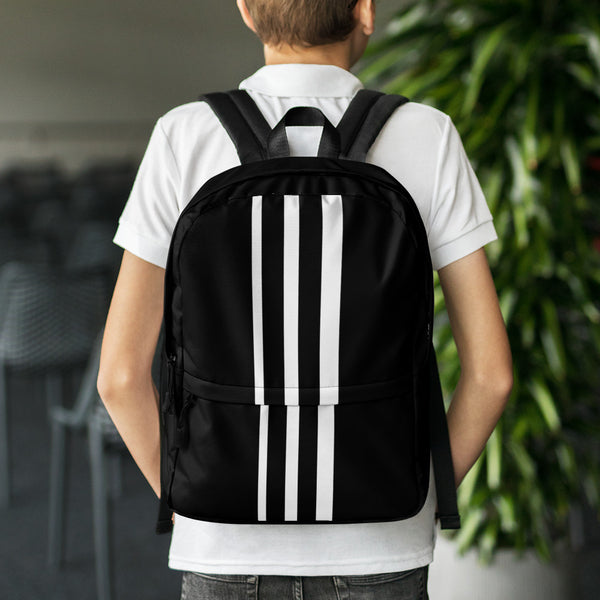 White Stripe Backpack