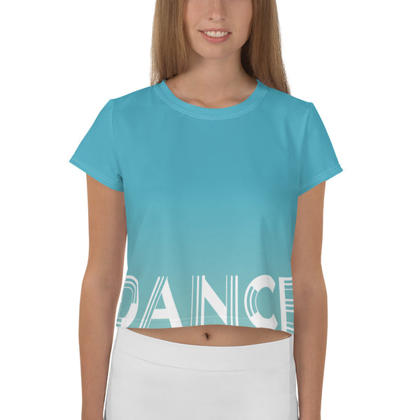 Logo Crop Top Tee Blue