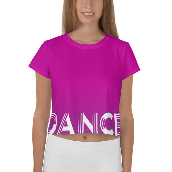 Logo Crop Top Tee Pink/Purple