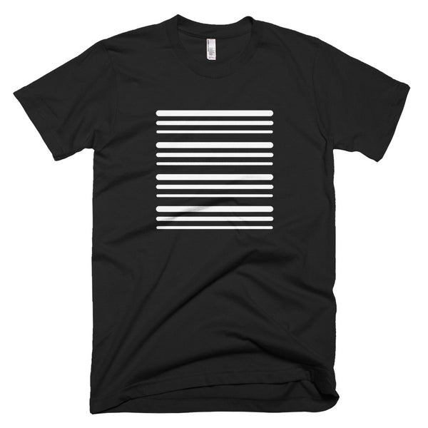 Unisex White Stripe Short-Sleeve T-Shirt