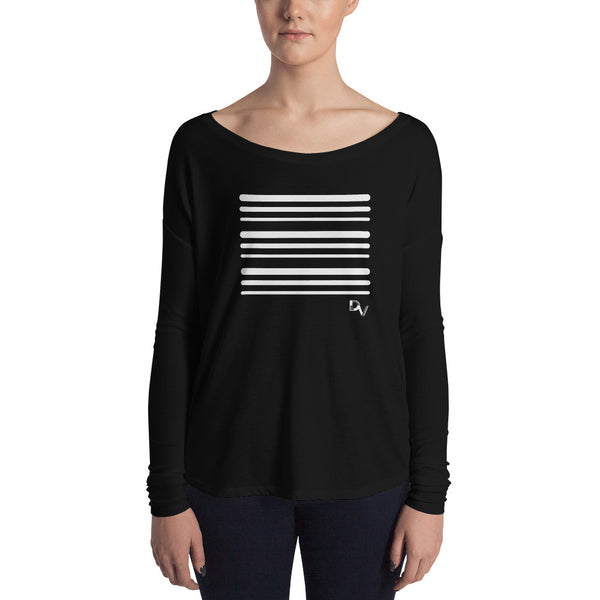 Stripe Ladies' Long Sleeve Tee