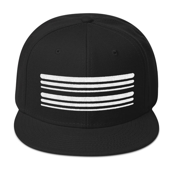 White Stripe Snapback Hat