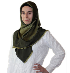 Bonjela Turkish Square Hijab Olive Green