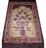 Plush Velvet Islamic Prayer Rug Purple