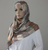 Ipekce Rainbow Shawl Hijab Light Brown