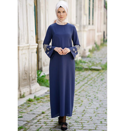 Abaci Modest Dress 11792-R06 Indigo