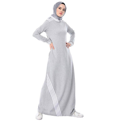 Abaci Dress Abaci Modest Sporty Abaya 9066 Gray