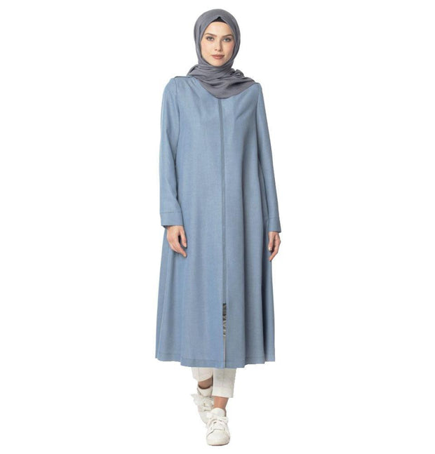 Abaci Outerwear Abaci Modest Topcoat 13397 Blue