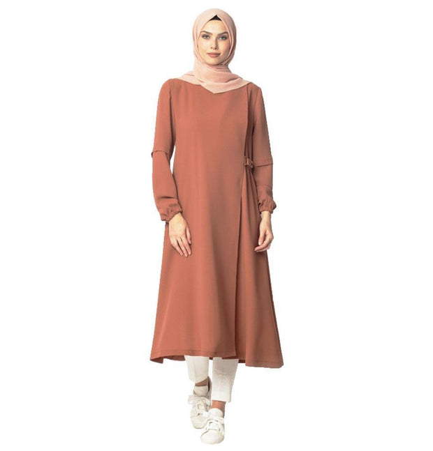 Abaci Outerwear Abaci Modest Wraparound Topcoat 130422 Burnt Orange