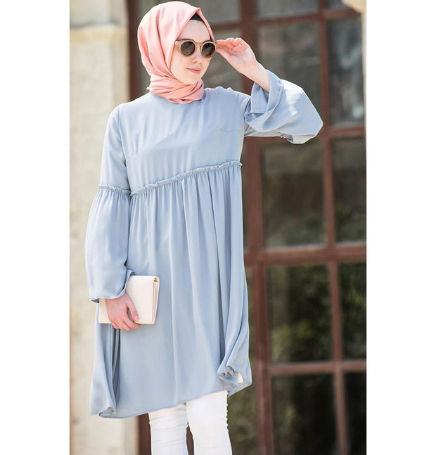 Abaci Tunic Abaci Modest Tunic TNK10956 Light Blue