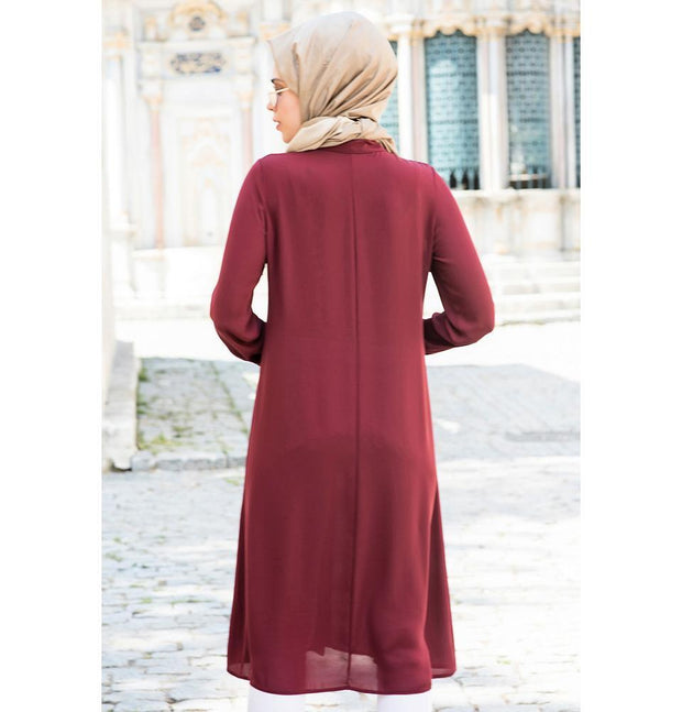 Abaci Tunic Abaci Simple Tunic 17TNK9936 Burgundy
