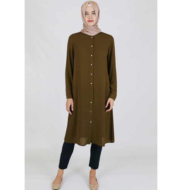 Abaci Tunic Abaci Simple Tunic 17TNK9936 Olive