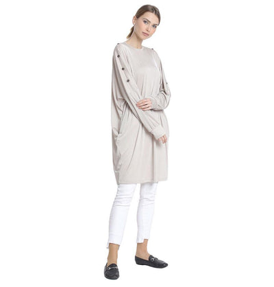 Abaci Modest Oversized Tunic 13088 Beige