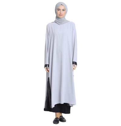 Abaci Modest Sequined Tunic 13191 Gray