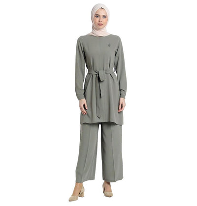 Abaci Tunic Abaci Solid Tunic & Pant Set 12252 Sage Green