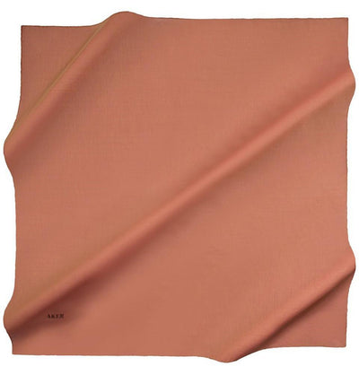 Aker scarf 100 x 100cm / Burnt Orange Aker Silk Cotton Square Solid Scarf #7071-431