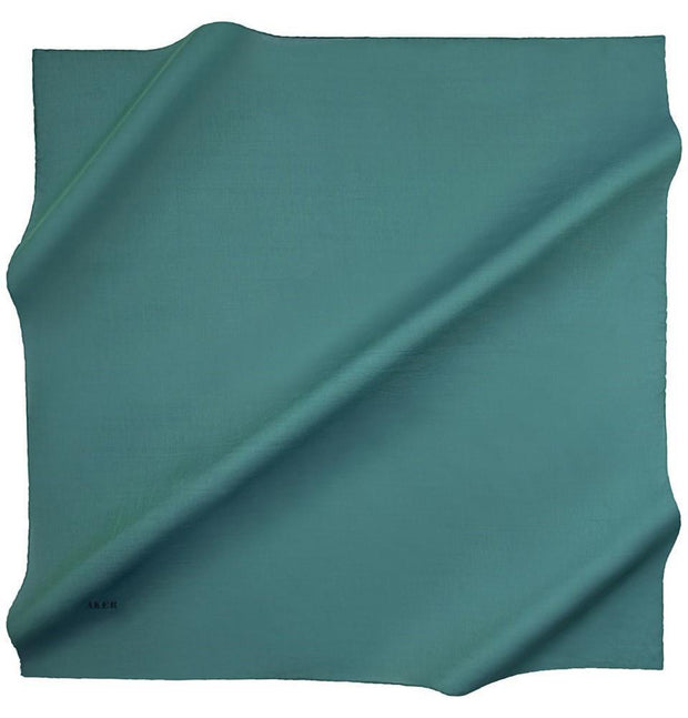 Aker scarf 100 x 100cm / Green Aker Silk Cotton Square Solid Scarf #7071-451