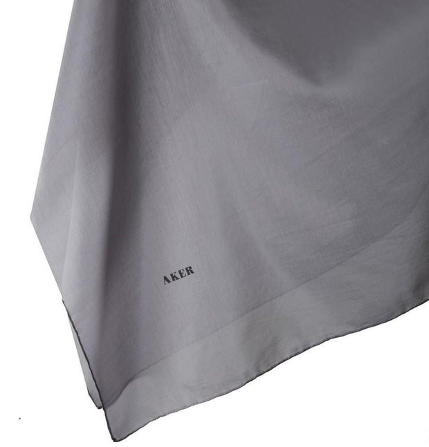 Aker scarf 100 x 100cm / Grey Aker Silk Cotton Square Solid Scarf #7071-471