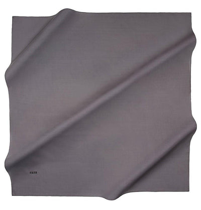 Aker scarf 100 x 100cm / Grey Aker Silk Cotton Square Solid Scarf #7071-474