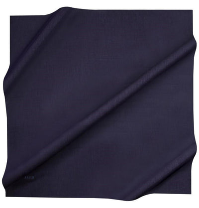 Aker scarf 100 x 100cm / Navy Aker Silk Cotton Square Solid Scarf #7071-421