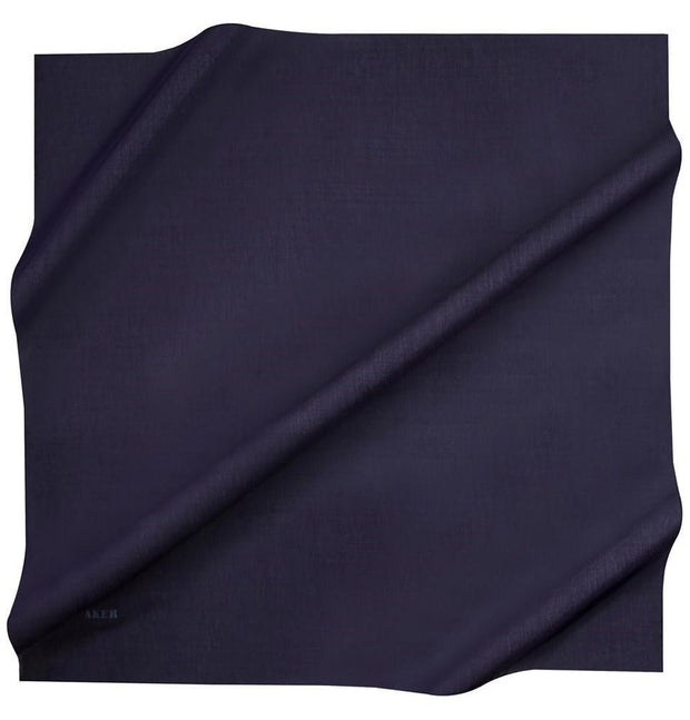 Aker Silk Cotton Square Solid Scarf #7071-421