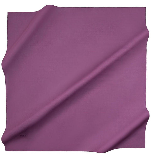 Aker scarf 100 x 100cm / Purple Aker Silk Cotton Square Solid Scarf #7071-492