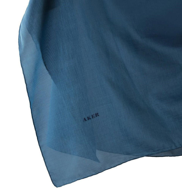 Aker scarf 100 x 100cm / Teal Aker Silk Cotton Square Solid Scarf #7071-422