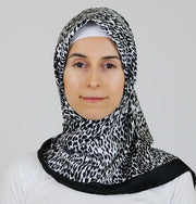 Aker Satin Square Hijab Scarf 5005 914 Black