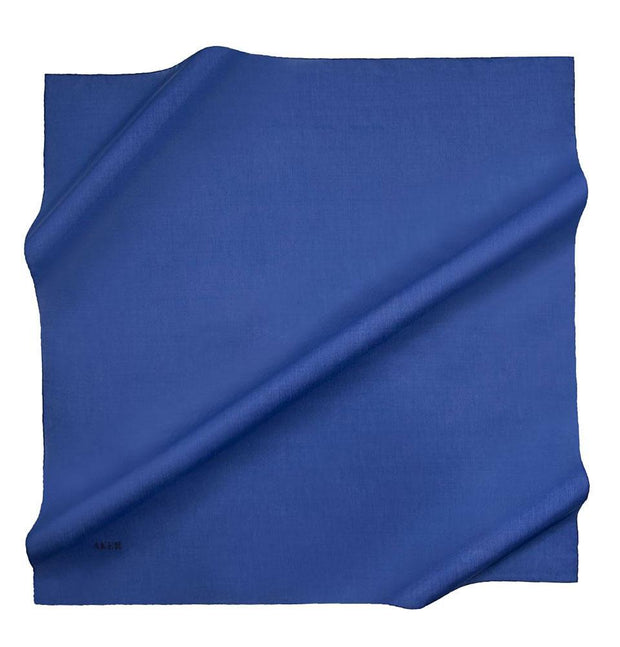Aker scarf Royal Blue Aker Silk Cotton Square Solid Scarf #7071-424