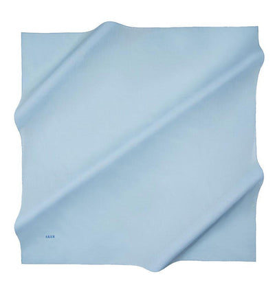 Aker scarf Baby Blue Aker Silk Cotton Square Solid Scarf #7071-426