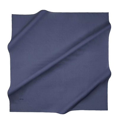 Aker scarf Blue Aker Silk Cotton Square Solid Scarf #7071-427