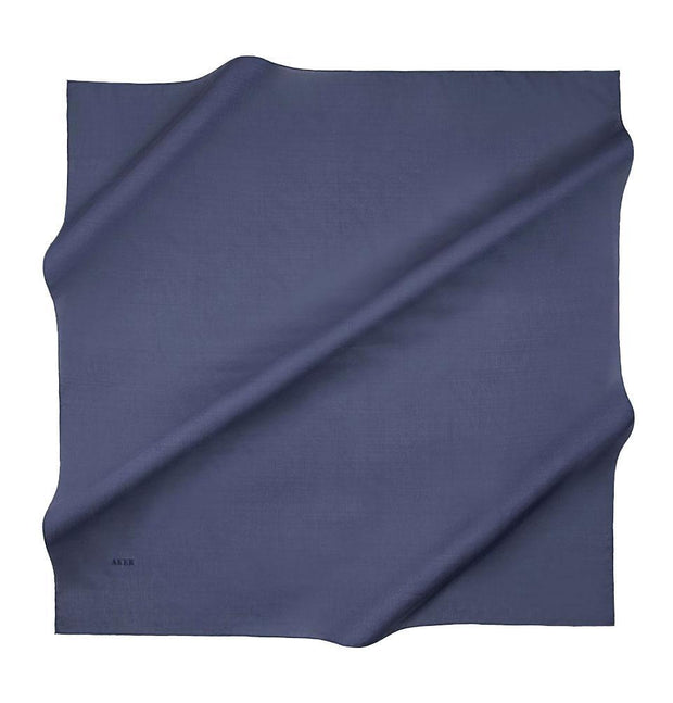 Aker Silk Cotton Square Solid Scarf #7071-427