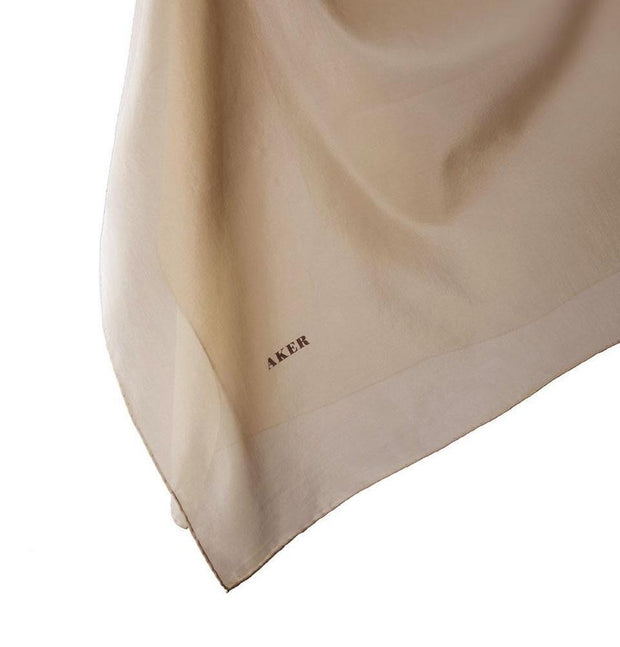 Aker Silk Cotton Square Solid Scarf #7071-432