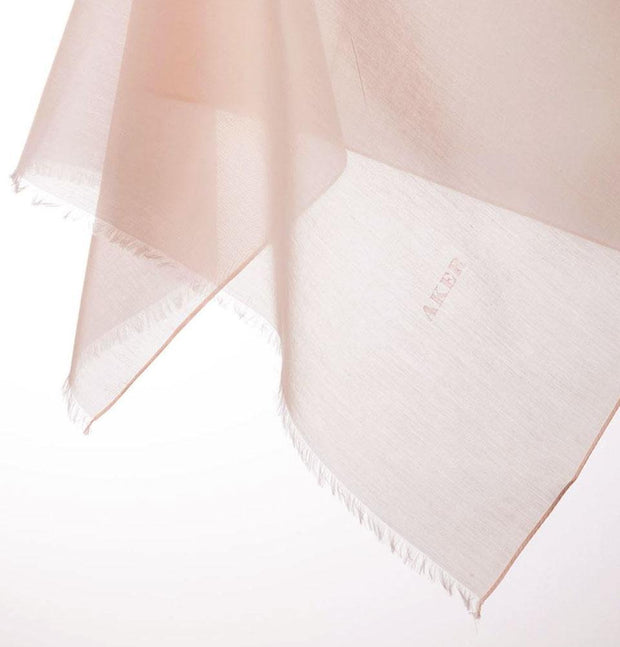 Aker scarf Light Pink Aker Silk Cotton Square Solid Scarf #7071-464