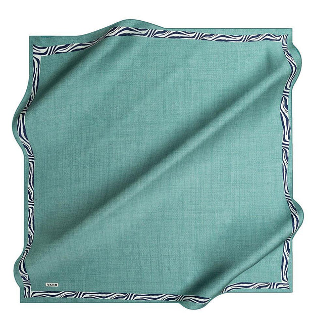Aker scarf Teal Aker Turkish Silk Hijab Spring/Summer 2019 #7786 Teal