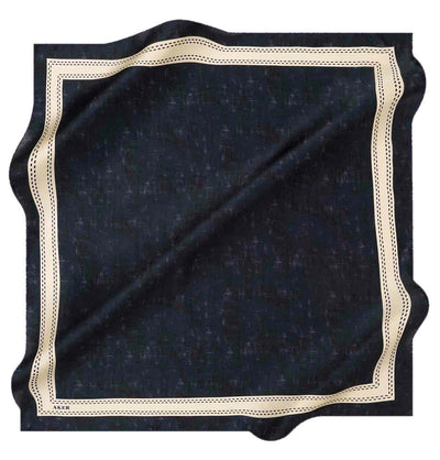 Aker scarf Aker Turkish Silk Hijab Spring/Summer 2020 #8062 Navy Blue