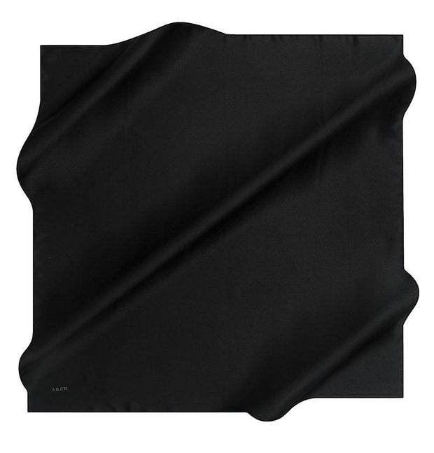 Aker scarf Black Aker Turkish Stony Silk Satin Hijab Spring/Summer 2019 #7747-311