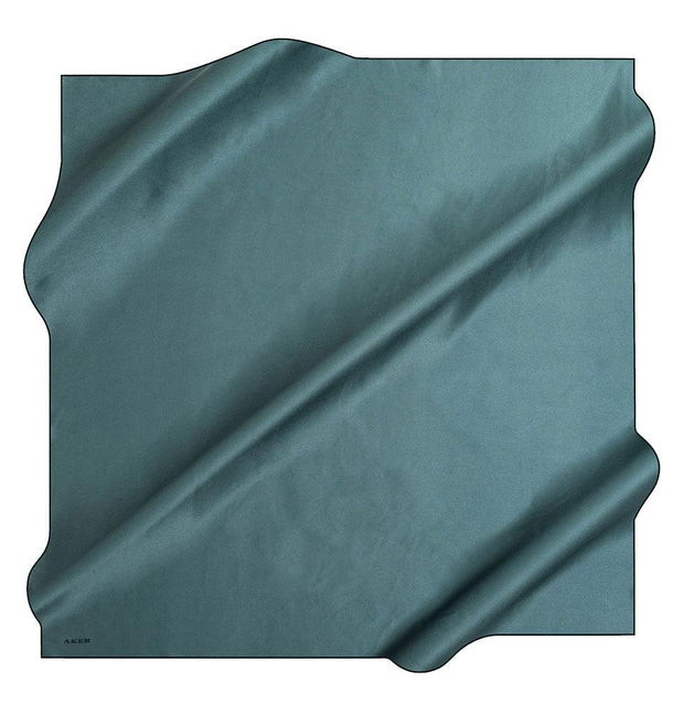 Aker scarf Dark Teal Aker Turkish Stony Silk Satin Hijab Spring/Summer 2019 #7747-353