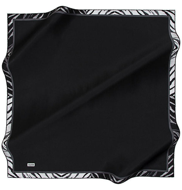 Aker scarf Black Aker Turkish Silk Hijab Fall 2017 #7117-315