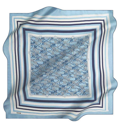 Aker Silk Cotton Patterned Square Scarf #7807-424