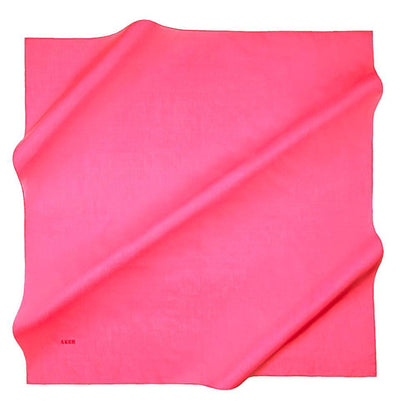 Aker scarf Bright Pink Aker Silk Cotton Square Solid Scarf #7071-498