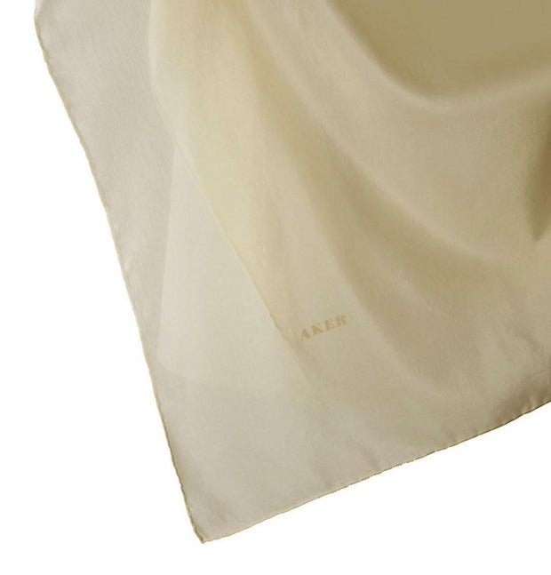 Aker scarf Creme Aker Silk Cotton Square Solid Scarf #7071-463