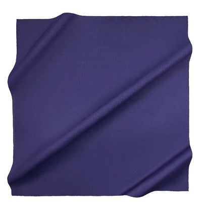 Aker scarf Indigo Aker Silk Cotton Square Solid Scarf #7071-496
