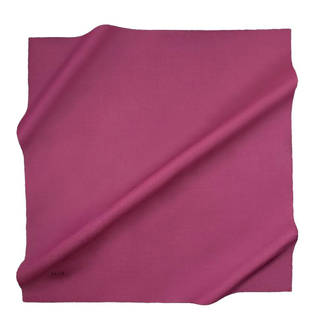 Aker scarf Magenta Aker Silk Cotton Square Solid Scarf #7071-493